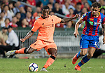 Liverpool FC midfielder Georginio Wijnaldum (L) fights for the ball with Crystal Palace player Michael Phillips (R) during the Premier League Asia Trophy match between Liverpool FC and Crystal Palace FC at Hong Kong Stadium on 19 July 2017, in Hong Kong, China. Photo by Weixiang Lim / Power Sport Images