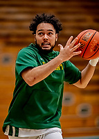 8 January 2020: University of Vermont Catamount Guard Eric Beckett, a Freshman from Ajax, Ontario, warms up prior to a game against the Stony Brook University Seawolves at Patrick Gymnasium in Burlington, Vermont. The Seawolves defeated the Catamounts 81-77 in a closely fought game. Mandatory Credit: Ed Wolfstein Photo *** RAW (NEF) Image File Available ***