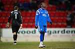 St Johnstone v Inverness Caley Thistle....02.01.11  .Collin Samuel looks to the skies after missing a chance.Picture by Graeme Hart..Copyright Perthshire Picture Agency.Tel: 01738 623350  Mobile: 07990 594431