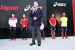 (L-R) Ryohei Kato, Saori Yoshida,  Hiroya Otsuki, Runa Imai, Atsushi Yamamoto (JPN), MAY 26, 2016 - : A press conference about presentation of Japan national team official sportswear for Rio de Janeiro Olympics 2016 in Tokyo, Japan. (Photo by Sho Tamura/AFLO SPORT)