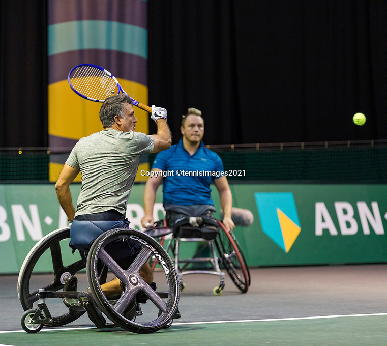 Rotterdam, The Netherlands, 6 march  2021, ABNAMRO World Tennis Tournament, Ahoy,  <br /> Semi final wheelchair: Stephane Houdet (FRA) / Nicolas Peifer (FRA).Photo: www.tennisimages.com/henkkoster