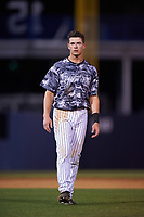 Tampa Yankees second baseman Nick Solak (39) during a game against the Bradenton Marauders on April 15, 2017 at George M. Steinbrenner Field in Tampa, Florida.  Tampa defeated Bradenton 3-2.  (Mike Janes/Four Seam Images)
