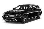 2021 Mercedes Benz E-Class All-terrain-Avantgarde 5 Door Wagon Angular Front automotive stock photos of front three quarter view