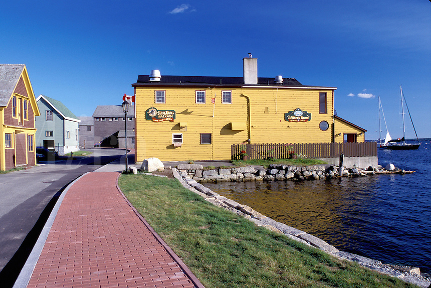 Nova Scotia, Shelburne, NS, Canada, Historic Shipbuilding Center in Shelburne on the Atlantic Ocean.