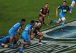 Tim Nanai Williams of the Chiefs makes a break during the Super Rugby Match between the Blues and the Chiefs, Eden Park, Auckland,  New Zealand. Friday 26  May 2017. Photo: Simon Watts / www.bwmedia.co.nz