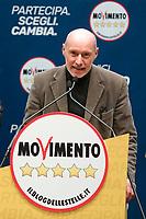 Gregorio De Falco<br /> Roma 29/01/2018. Presentazione dei candidati nelle liste uninominali del Movimento 5 Stelle.<br /> Rome January 29th 2018. Presentation of the candidates for Movement 5 Stars.<br /> Foto Samantha Zucchi Insidefoto