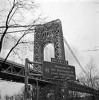 View of George Washington bridge<br />