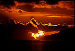 MAY 2000    -  Teahupoo, Tahiti   -  A  Taitian sunset over the South Pacific.