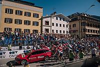 race start in Kufstein<br /> <br /> MEN JUNIOR ROAD RACE<br /> Kufstein to Innsbruck: 132.4 km<br /> <br /> UCI 2018 Road World Championships<br /> Innsbruck - Tirol / Austria