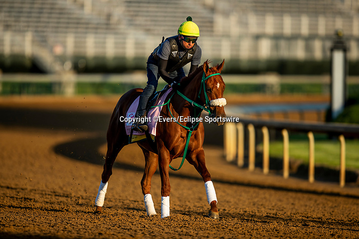 April 27, 2021: Competitive Speed gallops in preparation for the Kentucky Oaks at Churchill Downs in Louisville, Kentucky on April 27, 2021. EversEclipse Sportswire/CSM