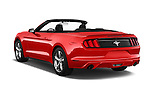 Car pictures of rear three quarter view of 2017 Ford Mustang V6 2 Door Convertible Angular Rear