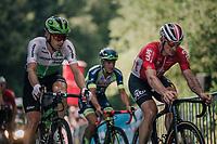 André Greipel (DEU/Lotto-Soudal) & Julien Vermote (BEL/DimensonData) 500 meters from the finish<br /> <br /> Stage 5: Lorient > Quimper (203km)<br /> <br /> 105th Tour de France 2018<br /> ©kramon