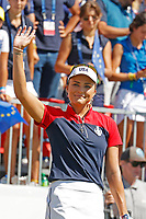 6th September 2021: Toledo, Ohio, USA; Lexi Thompson of Team USA is introduced on the first tee during her singles match in the Solheim Cup on September 6, 2021 at Inverness Club in Toledo, Ohio.