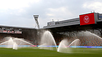 The sprinklers are on ahead of kick-off during Brentford vs Rotherham United, Sky Bet EFL Championship Football at the Brentford Community Stadium on 27th April 2021