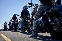 Le rassemblement de motocyclistes feminines<br />  FEMALE RIDERS,<br /> le 22 aout 2020 apres le confinement du au COVID 19