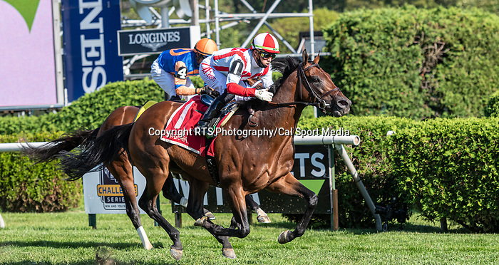 09042021:#1 Public Sector ridden by Irad Ortiz Jr.trained by Chad Brown wins the Saranac S. (gr 3) on The JOCKEY GOLD CUP day at Saratoga<br /> Robert Simmons/Eclipse Sportswire