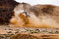 7th January 2021; Riyadh to Buraydah, Saudi Arabia; Dakar Rally, stage 5;  332 Lategan Henk (zaf), Cummings Brett (zaf), Toyota, Toyota Gazoo Racing, Auto, crashes and rolls the car during the 5th stage of the Dakar 2021 between Riyadh and Buraydah, in Saudi Arabia on January 7, 2021