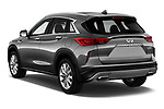 Car pictures of rear three quarter view of a 2019 Infiniti QX50 LUXE AWD 5 Door SUV angular rear