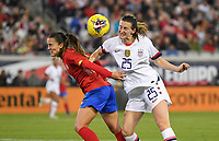 JACKSONVILLE, FL - NOVEMBER 10: Andi Sullivan #25 of the United States battles for a ball during a game between Costa Rica and USWNT at TIAA Bank Field on November 10, 2019 in Jacksonville, Florida.