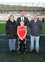 SWANSEA, WALES - FEBRUARY 07: Lee Trundle (C) before the Premier League match between Swansea City and Sunderland AFC at Liberty Stadium on February 7, 2015 in Swansea, Wales.