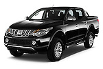 2016 Mitsubishi L 200 Intense 4 Door Pickup Angular Front stock photos of front three quarter view