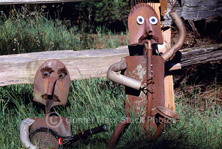 Near Sointula, Malcolm Island, BC, British Columbia, Canada - Artwork on Display, Recycled Objects