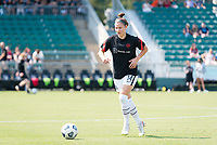 CARY, NC - SEPTEMBER 12: Natalia Kuikka #14 of the Portland Thorns warms up before a game between Portland Thorns FC and North Carolina Courage at WakeMed Soccer Park on September 12, 2021 in Cary, North Carolina.