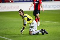 Mathias Hain (Bielefeld)<br /> Eintracht Frankfurt vs. Arminia Bielefeld, Commerzbank Arena<br /> *** Local Caption *** Foto ist honorarpflichtig! zzgl. gesetzl. MwSt. Auf Anfrage in hoeherer Qualitaet/Aufloesung. Belegexemplar an: Marc Schueler, Am Ziegelfalltor 4, 64625 Bensheim, Tel. +49 (0) 6251 86 96 134, www.gameday-mediaservices.de. Email: marc.schueler@gameday-mediaservices.de, Bankverbindung: Volksbank Bergstrasse, Kto.: 151297, BLZ: 50960101