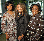 Pamela Lazard, Dr. Jonita Reynolds and Patricia Roberts at the Ivy Educational and Charitable Foundation fashion show luncheon at the Hilton Americas Sunday April 05,2009.(Dave Rossman/For the Chronicle)