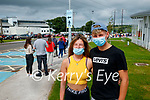 Marcella O'Connor, Kuba Ratajczak, Castlegregory at the walk on vaccinations underway at the Tralee vaccination centre at the Sports Academy at the MTU tralee.