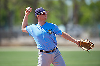 Tampa Bay Rays Allen Smoot (56) warms up before a Minor League Spring Training game against the Minnesota Twins on March 17, 2018 at CenturyLink Sports Complex in Fort Myers, Florida.  (Mike Janes/Four Seam Images)