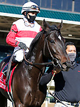 April 02, 2021 : #1 Scarlett Sky and jockey Joel Rosario win the 33rd running of The Kentucky Utilities Transylvania Grade 3 $150,000 for owner Stuart S. Janney III and trainer Claude McGaughey III at Keeneland Racecourse in Lexington, KY on April 02, 2021.  Candice Chavez/ESW/CSM