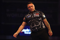 9th October 2021; Morningside Arena, Leicester, England; PDC BoyleSports Darts World Grand Prix finals ;  A dejected Gerwen Price as he looses the first set against Jonny Clayton