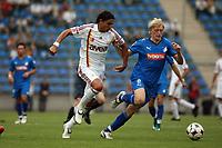 Fernando Meira (Galatasaray) im Zweikampf mit Andreas Beck (Hoffenheim)<br /> TSG 1899 Hoffenheim vs. Galatasaray Istanbul, Carl-Benz Stadion Mannheim<br /> *** Local Caption *** Foto ist honorarpflichtig! zzgl. gesetzl. MwSt. Auf Anfrage in hoeherer Qualitaet/Aufloesung. Belegexemplar an: Marc Schueler, Am Ziegelfalltor 4, 64625 Bensheim, Tel. +49 (0) 6251 86 96 134, www.gameday-mediaservices.de. Email: marc.schueler@gameday-mediaservices.de, Bankverbindung: Volksbank Bergstrasse, Kto.: 151297, BLZ: 50960101