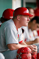July 13, 2009:  Catcher Blake Murphy of the Palm Beach Cardinals during a game at Hammond Stadium in Ft. Myers, FL.  Palm Beach is the Florida State League High-A affiliate of the St. Louis Cardinals.  Photo By Mike Janes/Four Seam Images