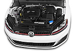 Car Stock 2015 Volkswagen GTI DSG SE PZEV 5 Door Hatchback Engine high angle detail view