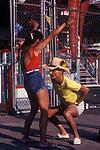Coney Island New Jersey USA 1970s.  Couple dancing.