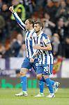 Espanyol's Sergio Garcia and Simao Sabrosa celebrates during La Liga match. December 16, 2012. (ALTERPHOTOS/Alvaro Hernandez)