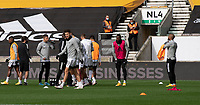 Fulham during the pre-match warm-up <br /> <br /> Photographer David Horton/CameraSport<br /> <br /> The Premier League - Wolverhampton Wanderers v Fulham - Sunday 4th October 2020 - Molineux Stadium - Wolverhampton<br /> <br /> World Copyright © 2020 CameraSport. All rights reserved. 43 Linden Ave. Countesthorpe. Leicester. England. LE8 5PG - Tel: +44 (0) 116 277 4147 - admin@camerasport.com - www.camerasport.com