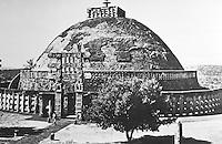 India:  The Great Stupa at  Sanchi, Madnya Pradesh, 3rd - 1st C. B. C.  There were both Buddhist and Jaina Stupas.