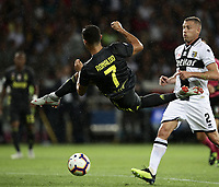 Calcio, Serie A: Parma - Juventus, Parma stadio Ennio Tardini, 1 settembre 2018.<br /> Juventus' Cristiano Ronaldo in action during the Italian Serie A football match between Parma and Juventus at Parma's Ennio Tardini stadium, September 1, 2018. <br /> UPDATE IMAGES PRESS/Isabella Bonotto