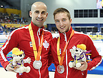 Toronto, Ontario, August 12, 2015. Benoit Huot wins silver and Alexander Elliot wins bronze at  the swimming during the 2015 Parapan Am Games . Photo Scott Grant/Canadian Paralympic Committee