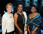 From left: Lennit Deily, Sheryl Lee Ralph and Jackie Phillips at the Ensemble Theatre's 2010 Black Tie Gala at the Hilton Americas Houston Saturday Aug. 14,2010.(Dave Rossman/For the Chronicle)