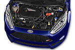 Car Stock 2014 Ford FIESTA ST MT 2WD 3 Door Hatchback 2WD Engine high angle detail view