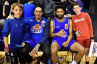 Leon Henry of the Wellington Saints and Dion Prewster of the Wellington Saints, Wellington Saints v Manawatu Jets at TSB Bank Arena, Wellington, New Zealand on Sunday 13 June 2021.<br /> Photo by Masanori Udagawa. <br /> www.photowellington.photoshelter.com