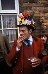 Haxey Hood Game. Haxey Lincolnshire 1970s. Chief Boggin Arthur Clark
