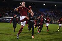 Esultanza Francesco Di Mariano Roma Celebration Latina 17-03-2015 Stadio Domenico Francioni Football Calcio Youth Champions League 2014/2015 AS Roma - Manchester City. Foto Andrea Staccioli / Insidefoto