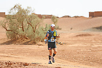5th October 2021; Kourci Dial Zaid to Jebel El Mraier ; Joshua HIGNELL (gbr) Marathon des Sables, stage 3 of  a six-day, 251 km ultramarathon, which is approximately the distance of six regular marathons. The longest single stage is 91 km long. This multiday race is held every year in southern Morocco, in the Sahara Desert.