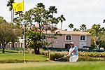 PALM BEACH GARDENS, FL. - Carl Pettersson hits from the rough on hole 8 during Round Two play at the 2009 Honda Classic - PGA National Resort and Spa in Palm Beach Gardens, FL. on March 6, 2009.