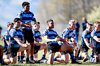 Nelson College performs the haka, during the 1st XV South Island Final rugby match between Otago Boys High School 1st XV and Nelson College 1st XV at Littlebourne in Dunedin, New Zealand on Saturday, 31 August 2019. Photo: Joe Allison / lintottphoto.co.nz